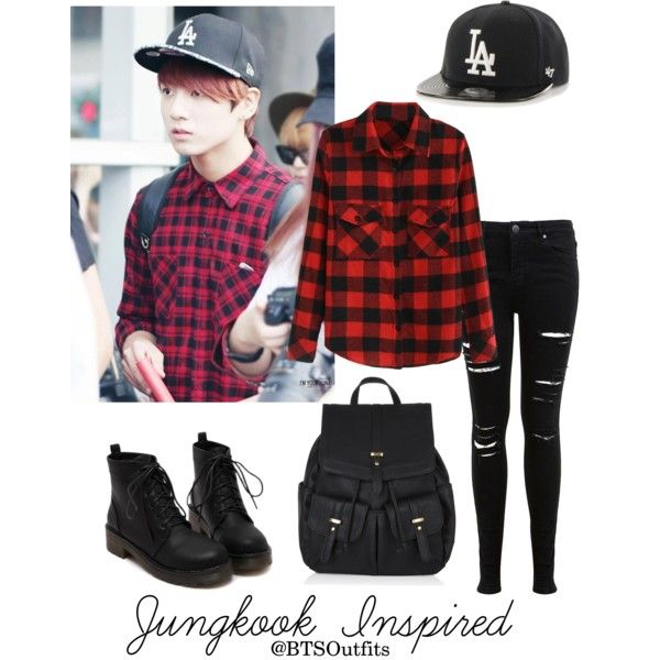 Jungkook Inspired Outfit by btsoutfits on Polyvore featuring Miss Selfridge and Accessorize