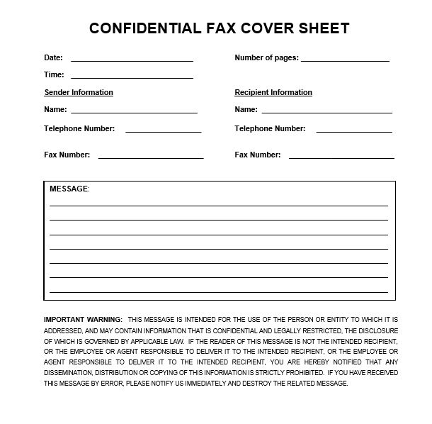 Fax Cover For Medical Applications And Professions  PopularFax