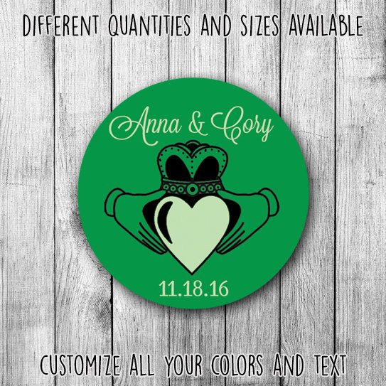 Irish love printable wedding custom stickers by mycustomwedding on etsy the perfect touch