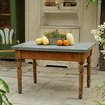 High Quality Zinc Topped Country Table | Zinc Table, Dining Room Table And Dresser Island