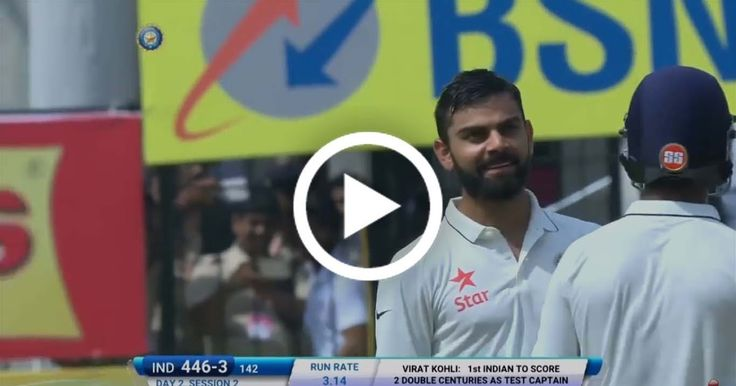 VIDEO: Virat Kohli double hundred 211 vs NZ highlights   Watch highlights of Virat Kohli's 211 runs double hundred vs New Zealand in Indore. Virat Kohli played a sensational innings of 211 runs and registered his highest individual score in test cricket. Virat Kohli became the first Indian captain to score a double century in tests. Ajinkya Rahane and Virat set up a record partnership and took India's score over 500 runs in 3rd and final test of the series. Watch captain Virat Kohli's…