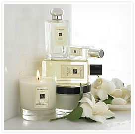 Jo Malone - Vintage Gardenia.  A captivating blend, the classic florals gardenia and tuberose are combined with cardamom, sandalwood and myrrh to create a rich seduction of the senses.