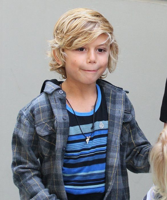 Kingston Rossdale, April 2012 ~ Towhead Kingston makes a showing at the 'Milk & Bookies Story Time' Celebration in L.A.