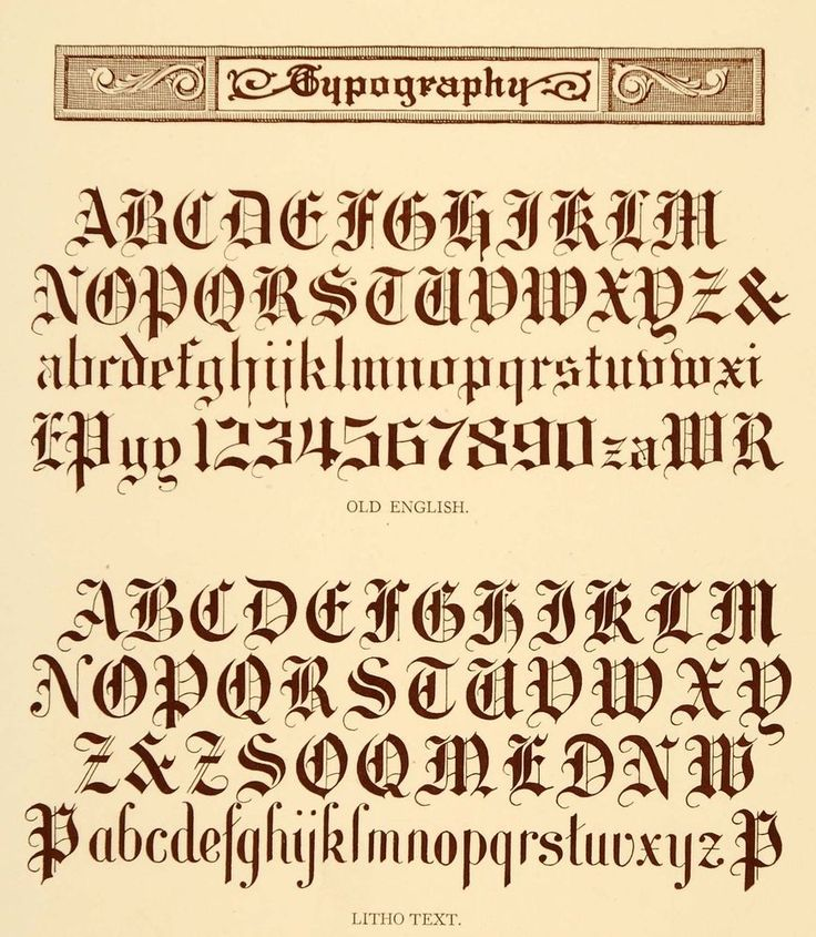 how to write in old english script