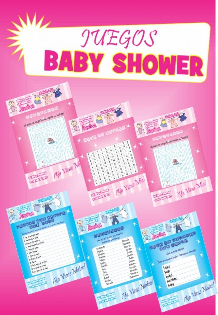 juegos para baby shower listos para imprimir juegos de baby shower