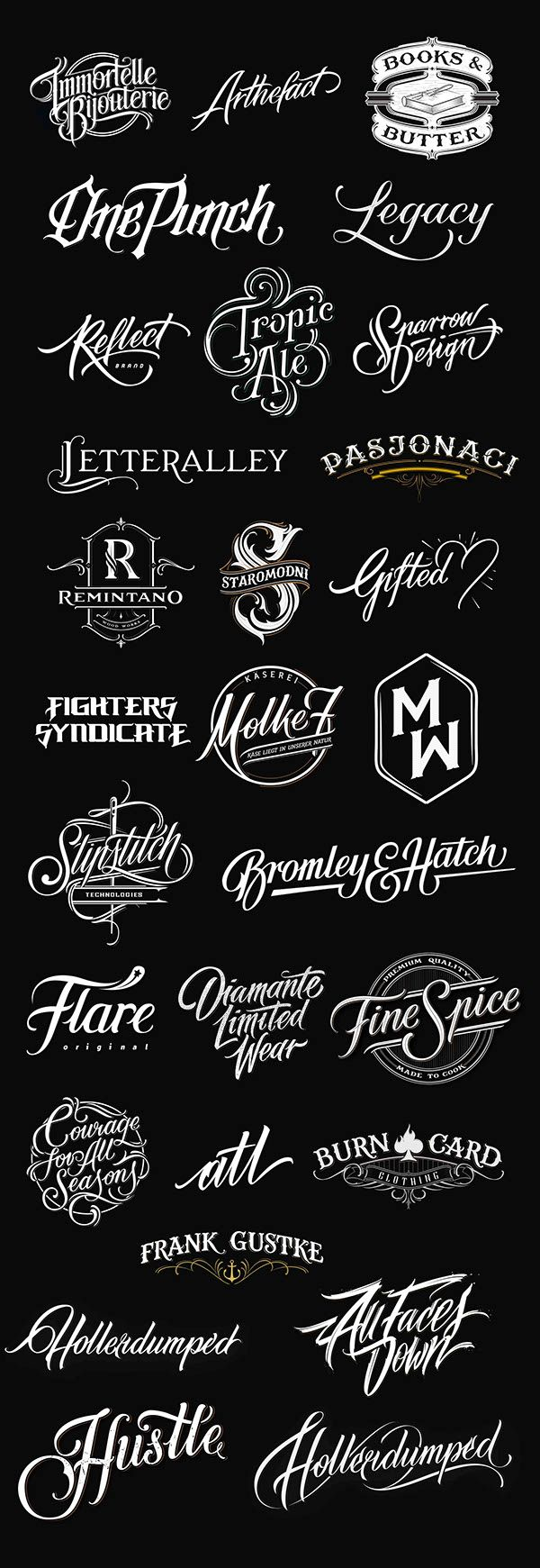 Handlettered Logotypes 3 on Behance