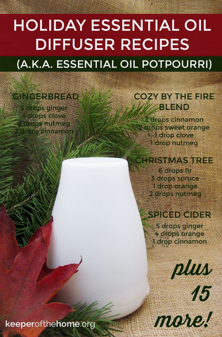 Essential oils are a safe way to bring some scented cheer to your home during the holiday season! Here's 20 blends for your favorite method of diffusing that not only will warm your heart, but have some health benefits too!
