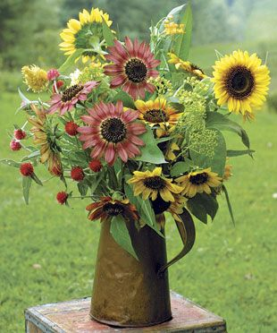 sunflowers make me smile.