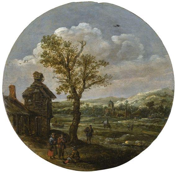 Yan Van Goyen summer landscape with old tree