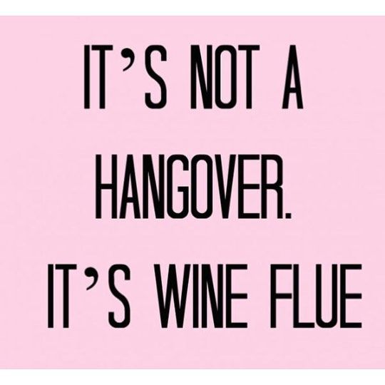 Promise it's not a hangover