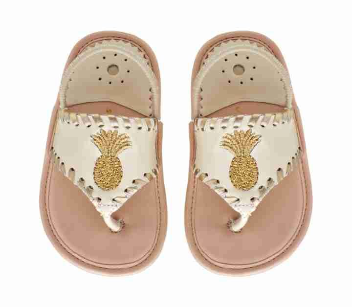 Baby Pineapple Sandal | Gold Embroidered Baby Sandals