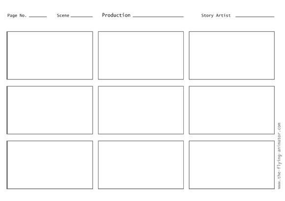 LANGUAGE ARTS: Blank storyboard templates
