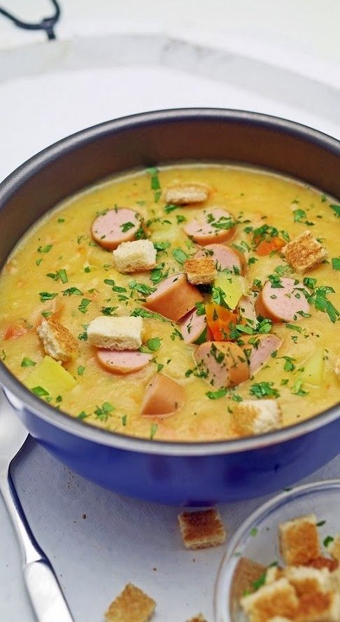 Stuttgartcooking   Schwäbische Kartoffel Suppe Mit Saiten Würstchen ***  German Stuttgart Cooking   Potatoe Soup With Sausages
