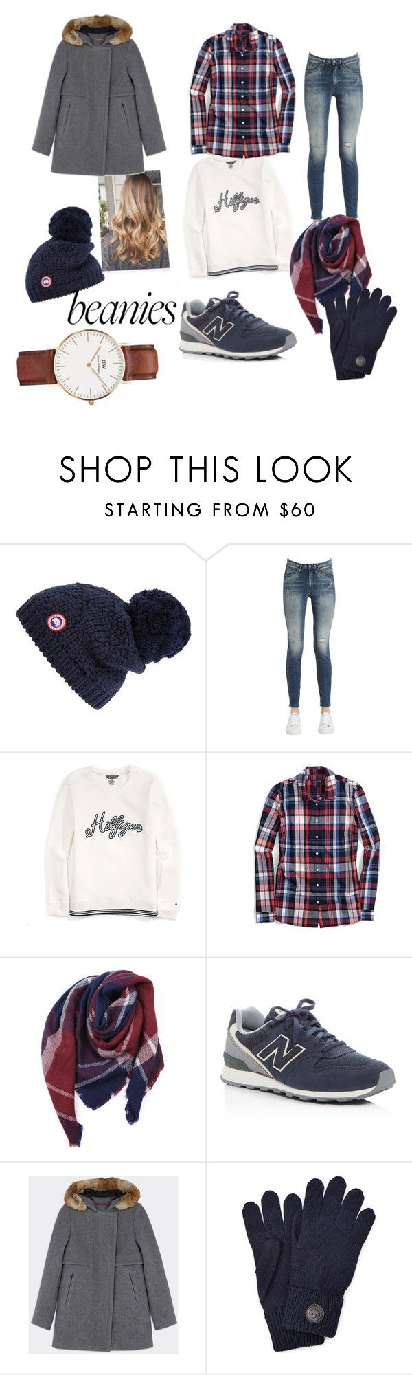 """Untitled #38"" by giorgiatonelli ❤ liked on Polyvore featuring Canada Goose, Calvin Klein Jeans, Tommy Hilfiger, Everest, New Balance, Dsquared2 and Daniel Wellington"