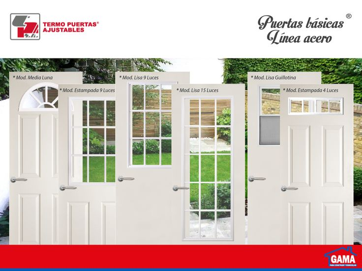 Puertas de acero para exterior ideales para salidas a for Puertas para patio interior