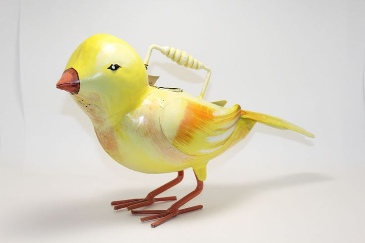 Coldwater Creek Yellow Canary Bird Watering Can New w Tags Animal Watering Can #ColdwaterCreek