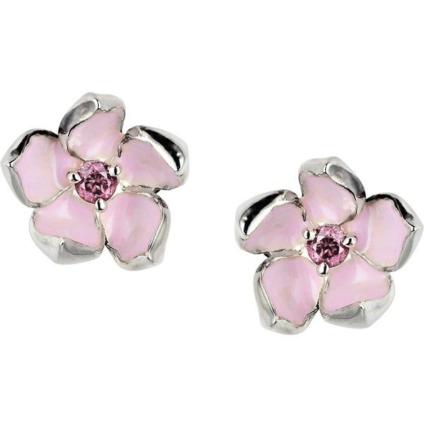 Shaun Leane Cherry Blossom Rhodalite Earrings found on Polyvore