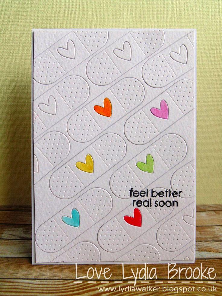 Love Lydia Brooke: Sensational Sunday Blog Hop At Loves Rubberstamps - Paper Smooches Band Aids Die & Salutations Stamp Set