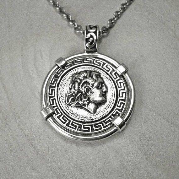 Alexander the greatalexander coinsilver coin necklacegreek