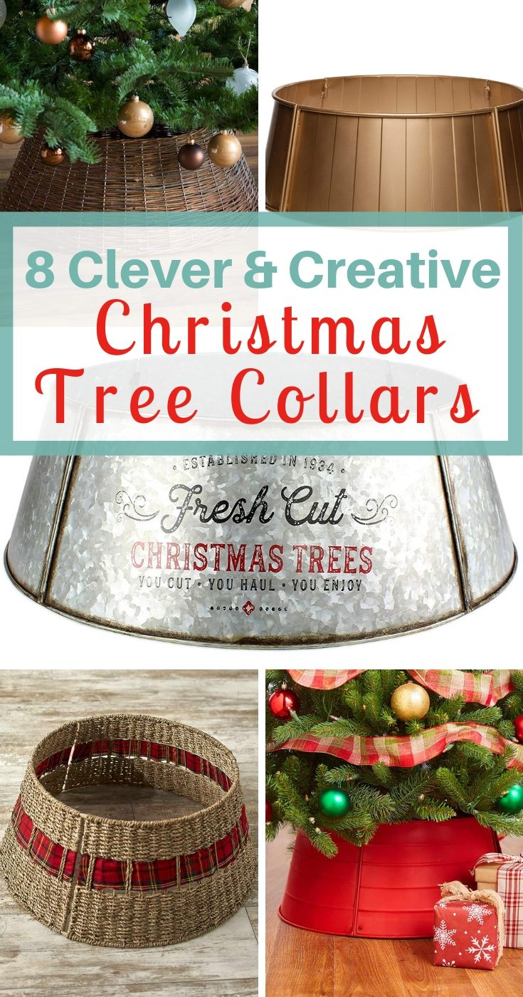 8 Creative Christmas Tree Collars To Spruce Up Your Tree A Nod To Navy Christmas Tree Base Creative Christmas Trees Diy Christmas Tree