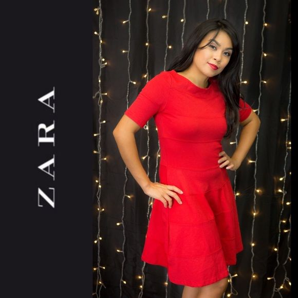 ZARA Red Dress SALE Excellent condition. Modeled by Cristina. First few photos by Djukich Studios. Last photos by The Loose Change Collective.  Sale price is FIRM and non-negotiable. No further bundling discounts will be given. Zara Dresses