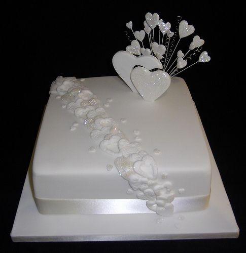 Single Tier Wedding Cake | A single square-tiered wedding ca… | Flickr