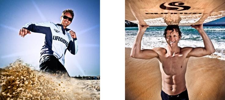"Troy Quinlan and Dean Gladstone A.K.A ""Deano"" Bondi Rescue Lifeguards"