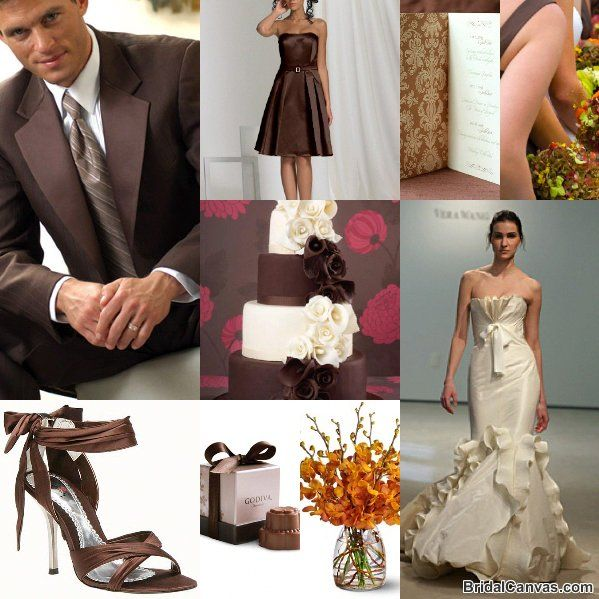 83 best Chocolate and Champagne Wedding Colors images on Pinterest