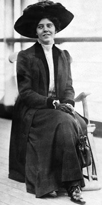 "Alice Paul -  (1885-1977) - The ""iron-jawed angel"" who rescued the woman suffrage movement (1910) and made sure women in the US got suffrage."