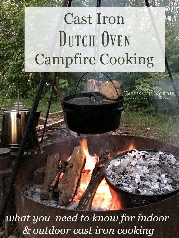 Sensational Cast Iron Dutch Oven Outdoor Campfire Cooking Camping Home Interior And Landscaping Spoatsignezvosmurscom