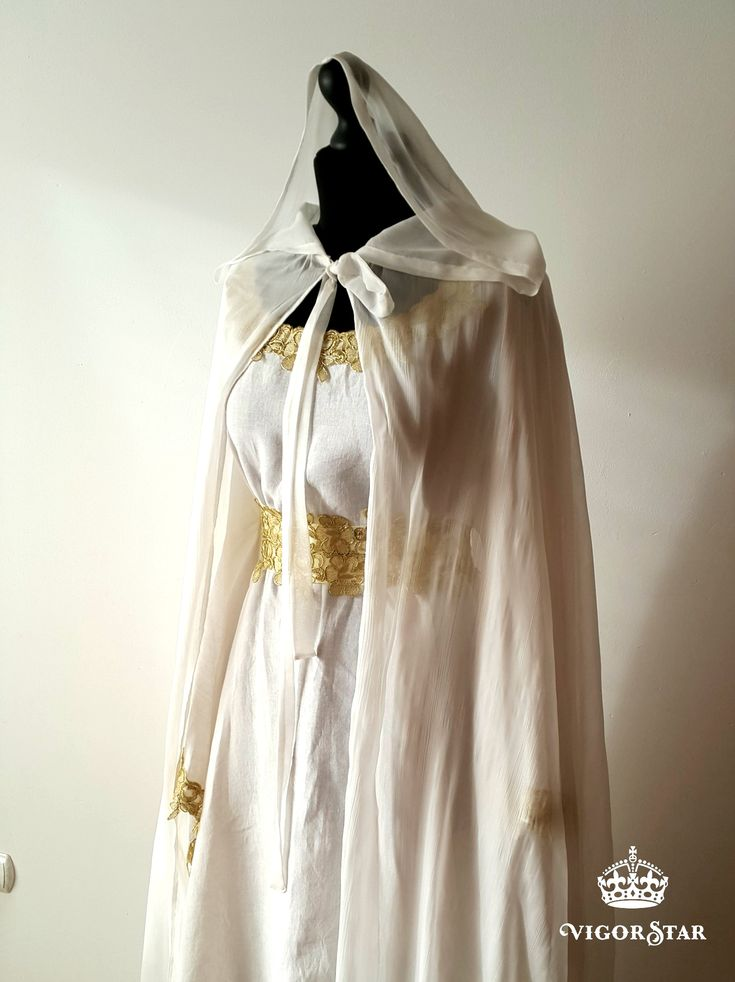 Medieval Celtic Viking Elven Cloak Lord of the Rings