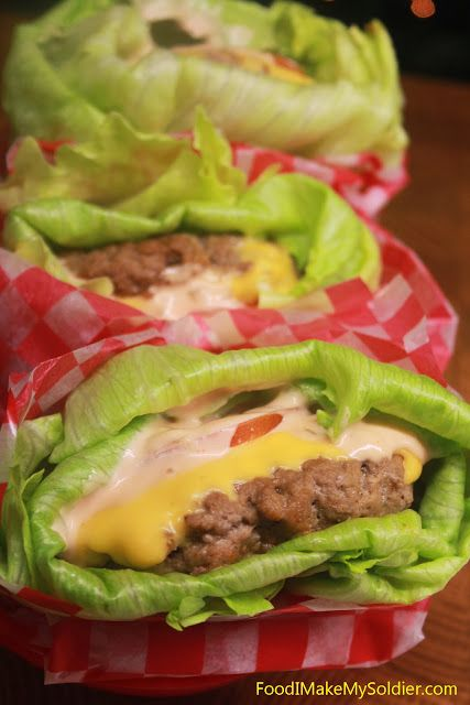 : Lettuce Wrapped Cheeseburgers---May have to tweak this a little to fit the gastric bypass diet but it can work and it looks so yummy!