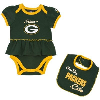 7007cb8fb031e Green Bay Packers Infant Girls Skirted Onesie & Bib Set | Sports ...