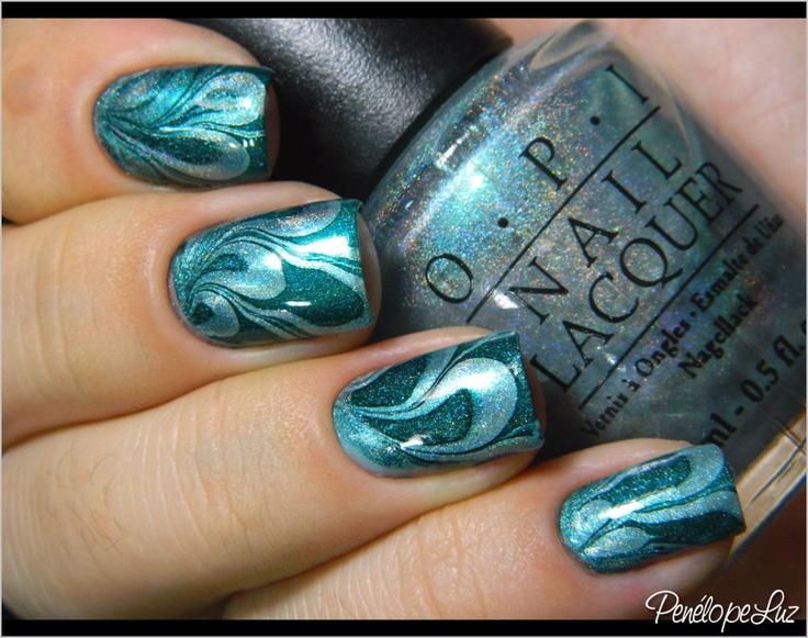 Moon Lagoon: Moonlagoon, Nail Moon, Pretty Nails, Beautiful, Marble Nails, Marbles, Lagoon Opi, Lagoon Nails