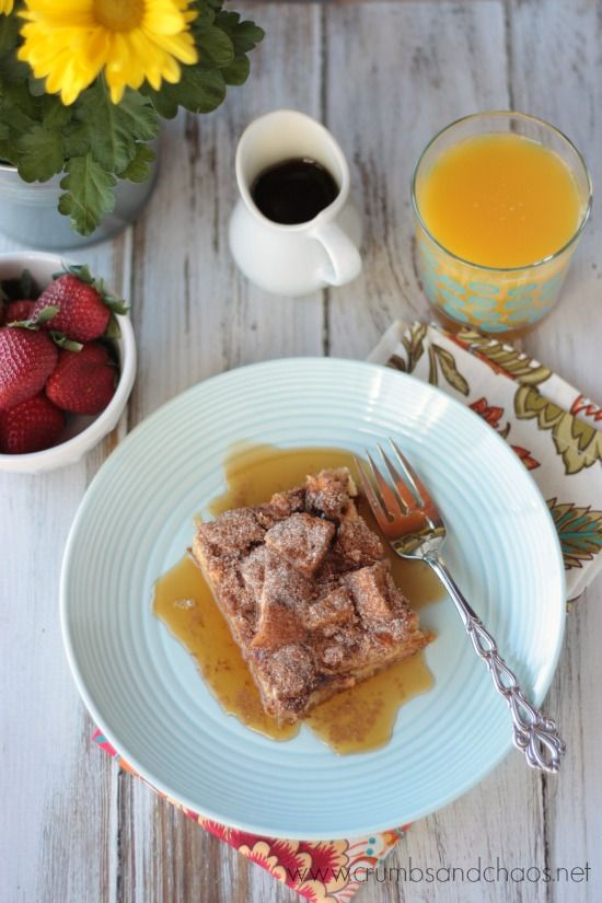 Cinnamon Crunch Buttermilk French Toast | Crumbs and Chaos