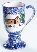 Living Quarters Holiday Mountain Lodge Pedestal Mugs