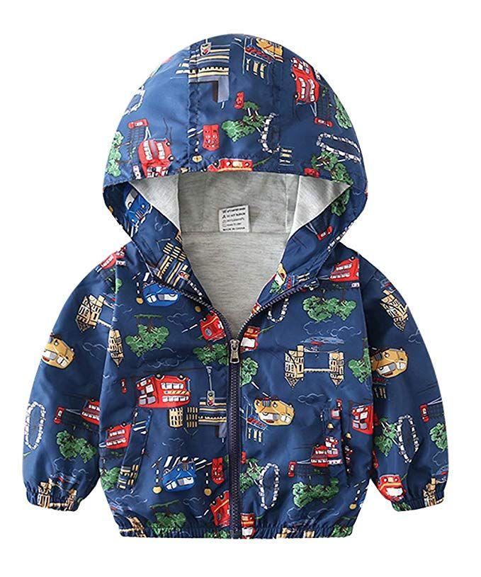 9f3b8c029 lymanchi Kids Baby Boy Casual Windbreaker Outerwear Dinosaur Printed Zipper  Hooded Jackets Coat Car 2T