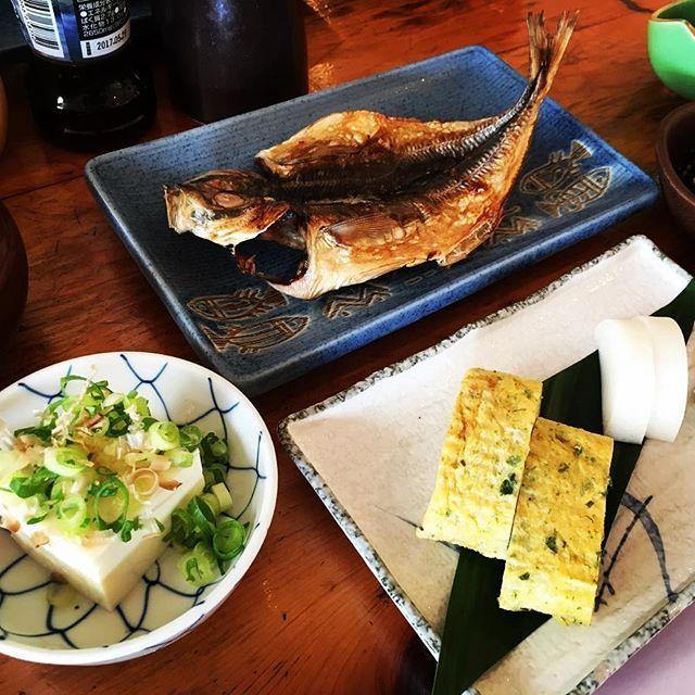 【t.yakata】さんのInstagramをピンしています。 《おはようございます アジの干物も焼けまして 朝食がスタート 今日も良い天気です #刺身 #地魚 #和食 #舟盛り  #刺身盛り合わせ #朝食 #アジの干物  #おふくろの味 #伊豆 #旅行 #伊豆旅行  #海 #河津温泉 #河津桜 #旅館 #旅 #温泉 #露天風呂 #船の露天風呂 #やかた #旅師の宿》