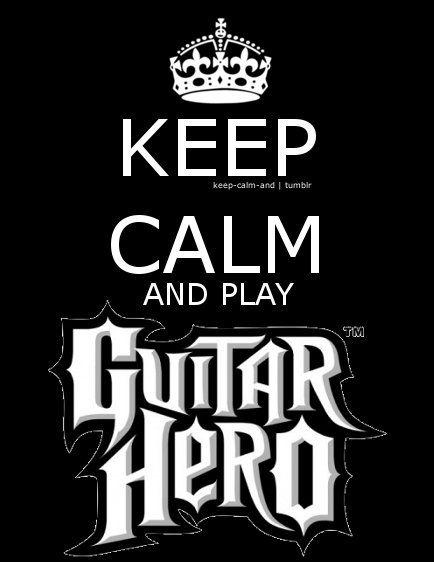 LOVE playing my Guitar Hero games! =D They are SO de-stressing and fun!