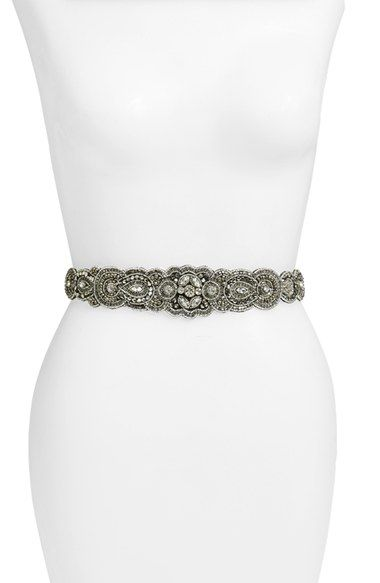 Glint 'Arabesque' Beaded Stretch Belt available at #Nordstrom