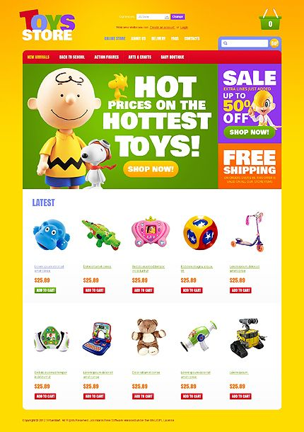 Toys Store VirtueMart Templates by Hermes