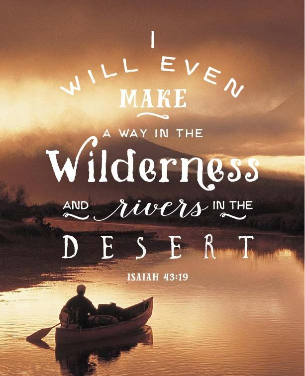 Canoe, Bible Verse, Wilderness, Isaiah, quote