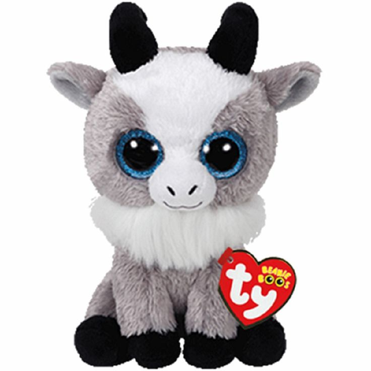"Ty Beanie Boos ~ GABBY the 6"" Goat ~ Stuffed Plush Toy (NEW) 2017 PRE-SALE 