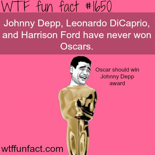 WTF Facts : funny, interesting & weird facts: Photo..........this makes me mad. How not has Johnny depp won an Oscar?!?!