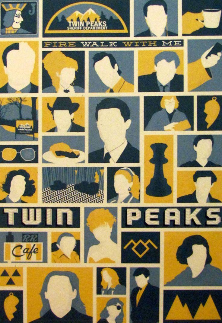 Постер к фильму Твин Пикс :: Интернет-магазин дизайнерских постеров