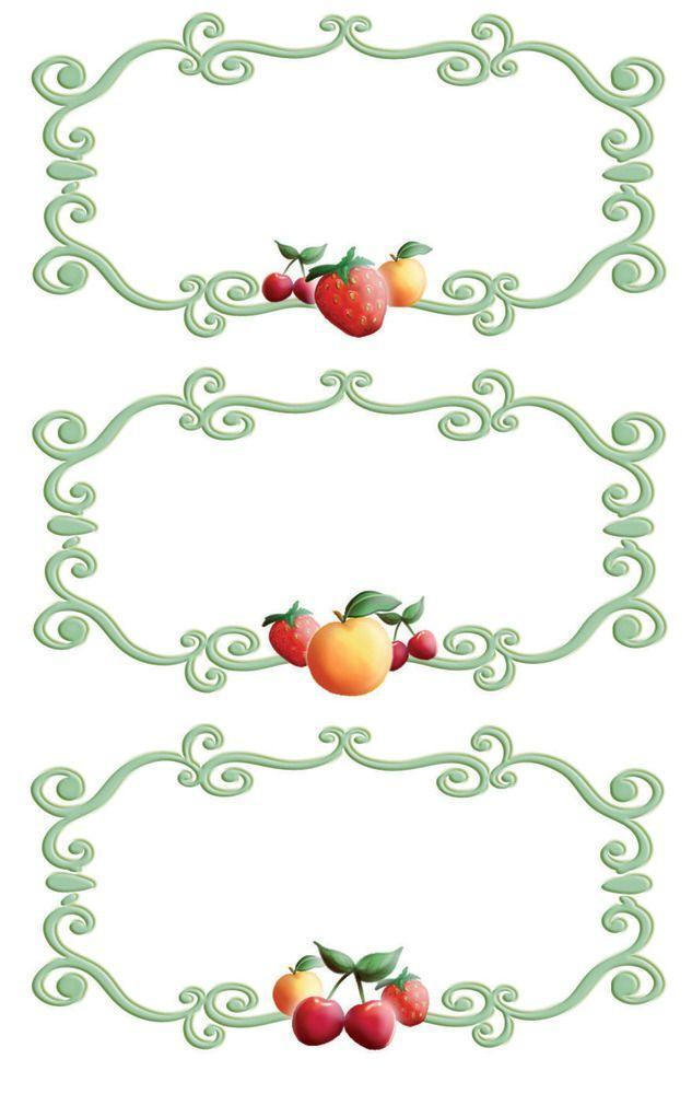 Avery Zweckform Z-Design No. 59671 papír matrica befőttes üvegre - gyümölcs mintával és díszes kerettel - kiszerelés: 3 ív / csomag (Avery Z-Design 59671)