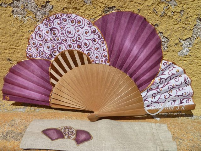 Abanico pintado a mano - Hand painted fan   Teresina