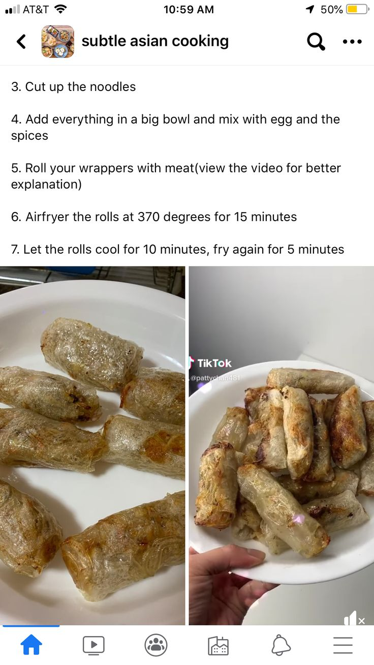 Air Fryer Rice Paper Spring Rolls in 2020 Rice paper