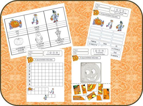 Un épouvantable Halloween - exploitation GS - en cours... ressources pour la maternelle http://www.trousseetcartable.fr/
