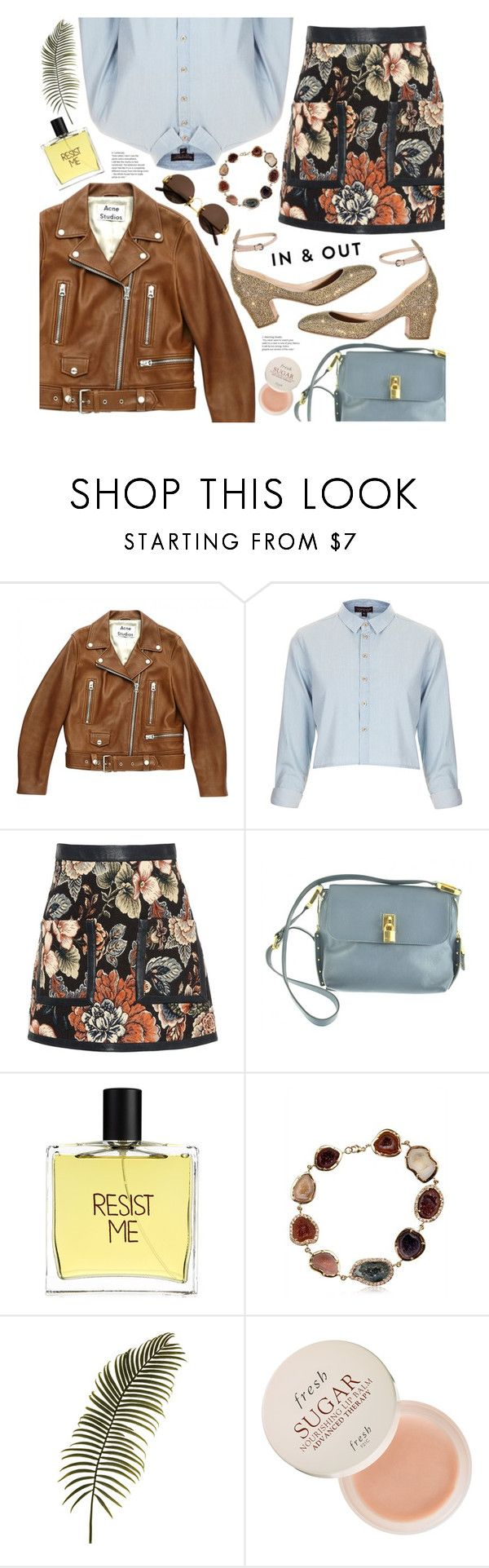 """in & out"" by valentino-lover ❤ liked on Polyvore featuring Acne Studios, Topshop, STELLA McCARTNEY, Marc Jacobs, Liaison De Parfum, Kimberly McDonald, Fresh and Cartier"